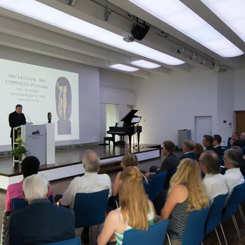 Dank des Preisträgers Kardinal Koch