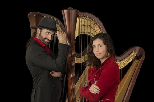 Harfenduo Laura Oetzel & Daniel Mattelé (Foto: D. Mattelé)