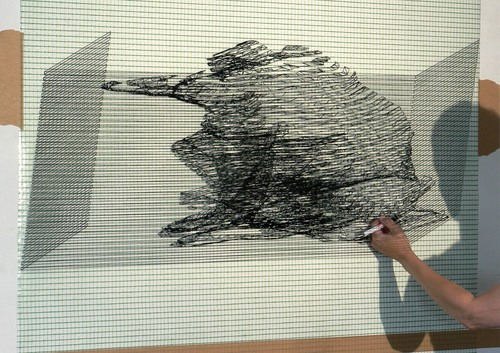 Anja Hoinka, »krotz«, 2016, Folienzeichnung