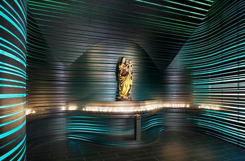 Kirche weitergebaut III, 2012: Offene Kirche St. Klara, Nürnberg, Brückner&Brückner Architekten, Würzburg, Foto: Constantin Meyer
