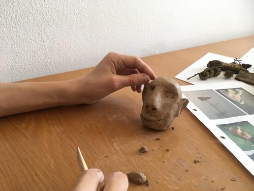 Schülerkunstworkshop (Foto: S. Lieb)